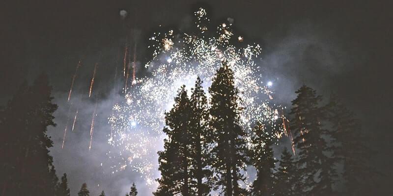Camping an Neujahr