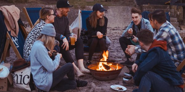The perfect bonfire is an essential part of camping